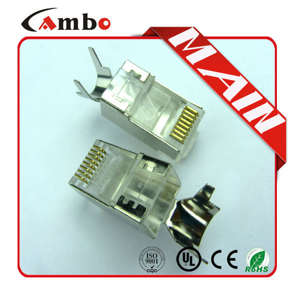 Cat5e CAT6 CAT7 Stranded Solid network cable 8P8C shielded 50U Gold Plated rj45 transformer
