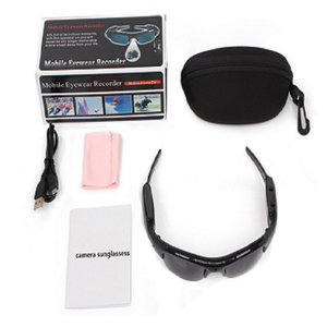 Fast Shipping Security Hidden Camera Spy Video Recorder Sunglasses