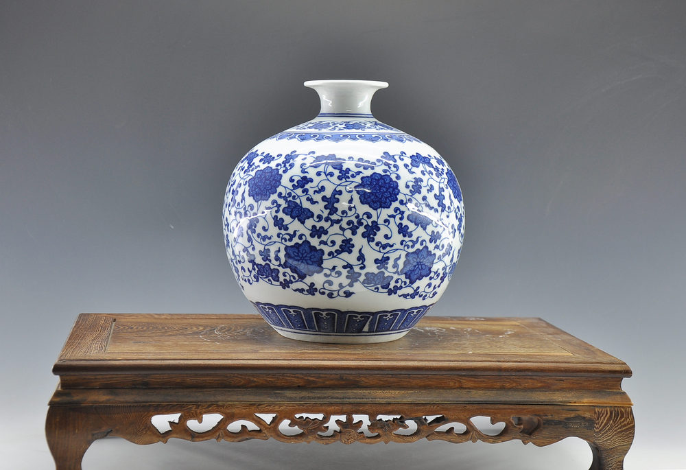 Decorated Blue And White Ceramic Porcelain Jardiniere Cheap Flower Vase Buy Jardiniere Vase