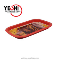 New Fashion design foods metal tray/dish for wholesale