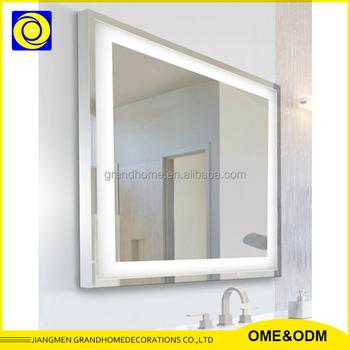 Aluminum Frame Led Light Glass Mirror,Ul Ip44 Illuminated Full ...