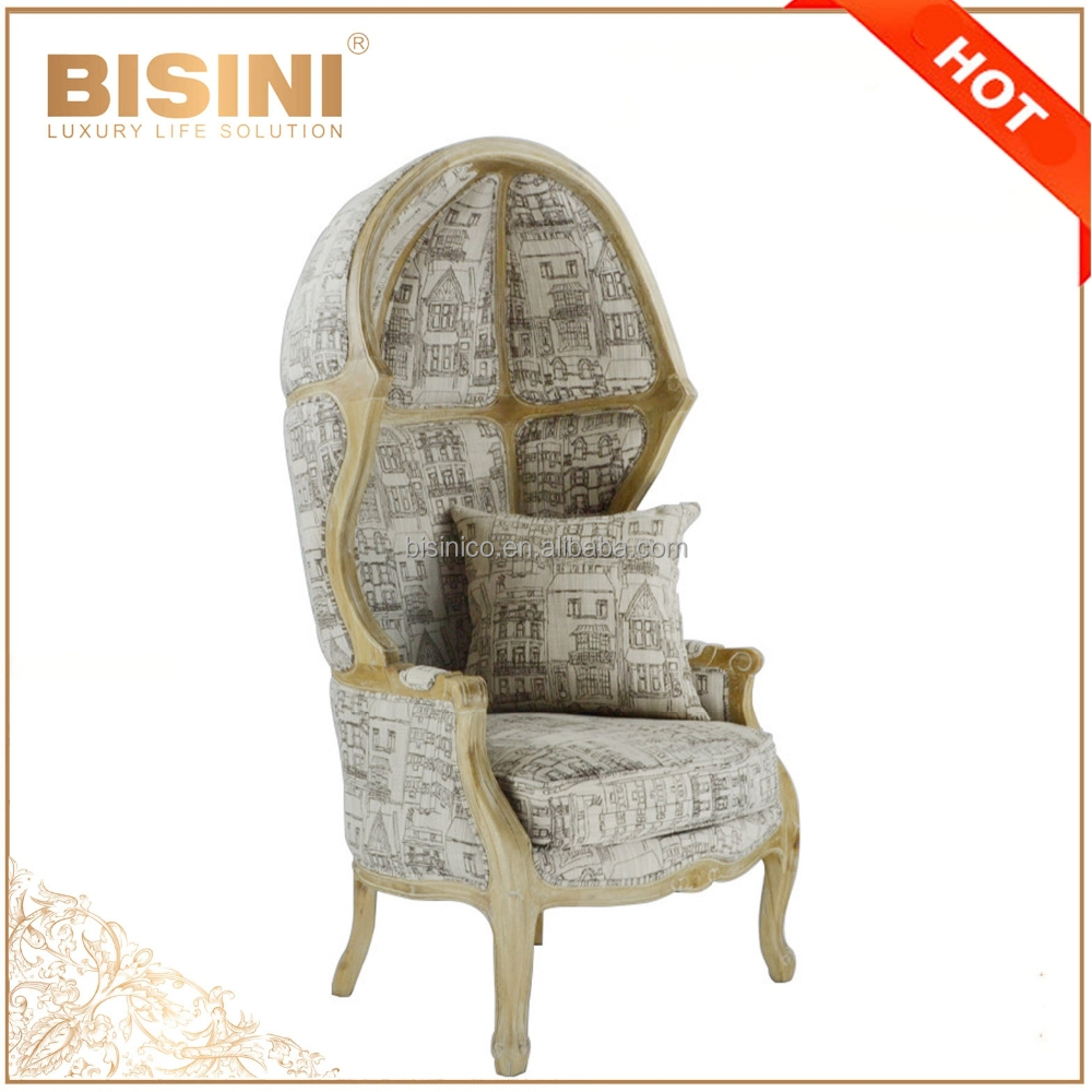 French Provincial Living Room Decor Canopy Birdcage Chair/ Vintage Limed  Gray Wooden Linen Birdcage Chair,Shell Leisure Chair - Buy Living Room  Wooden ...