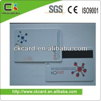Full color printing Plastic hole punch cards