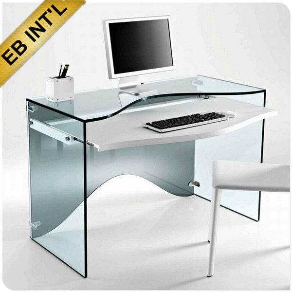 Mobili per ufficio scrivanie computer elegante vetro float for Mobili per computer
