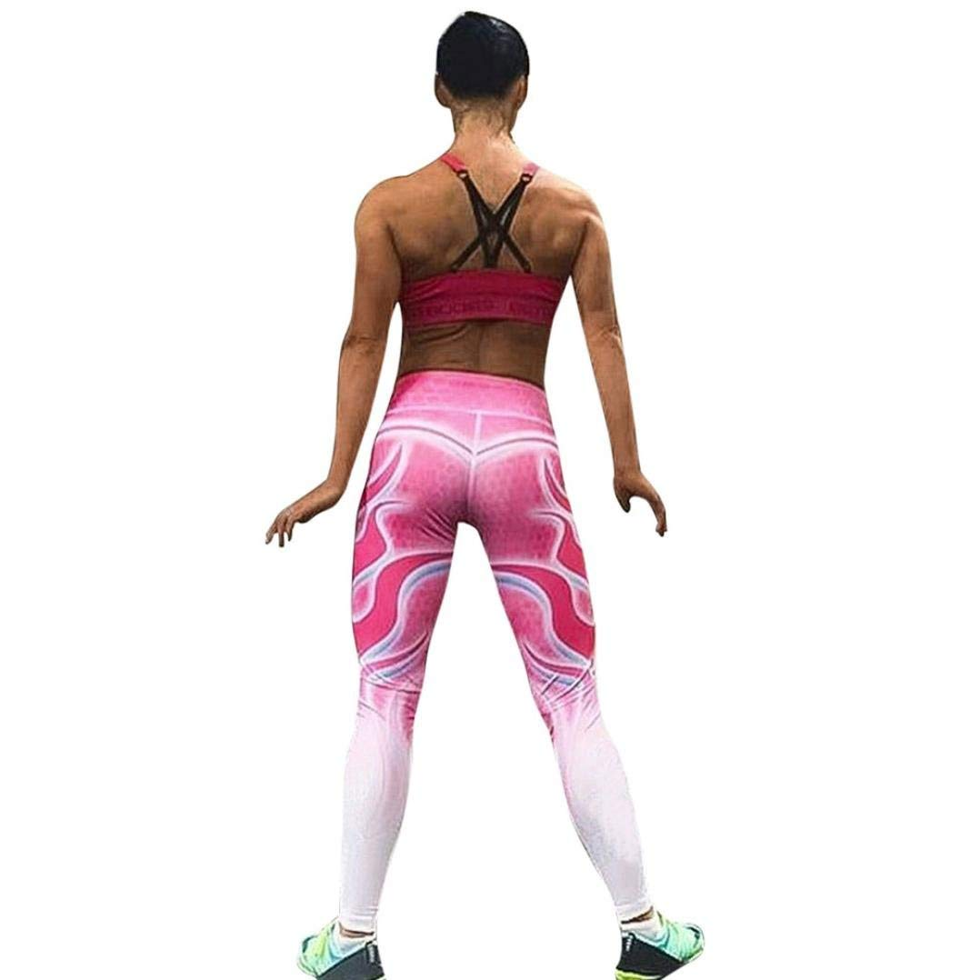 9eb2710a7bd7c Get Quotations · Tsmile Women Pants Clearance Womens Yoga Fitness Print  Leggings Running Gym Stretch Sports Casual High Waist