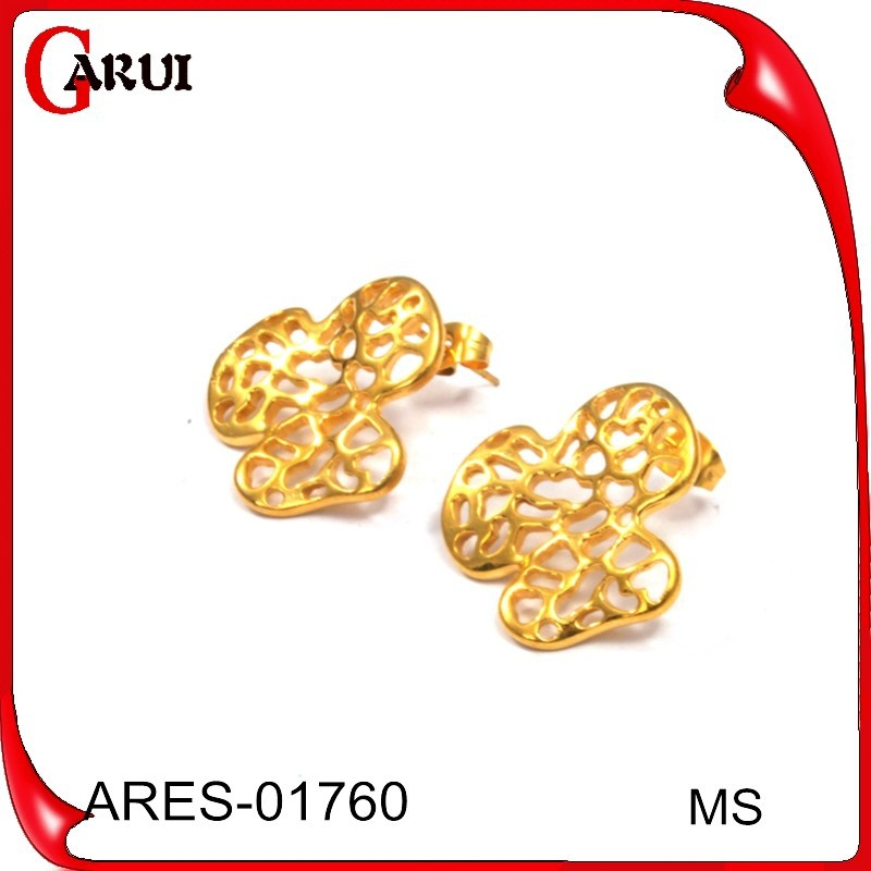 Fashion Jewelry Gold Ear Tops Designs Gold Stainless Steel Earring ...