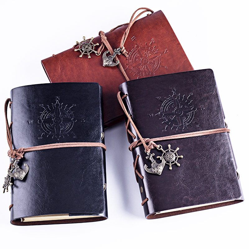 A6 Size Leather Writing Journal Notebook/ Vintage Nautical Spiral Blank String Diary Notepad Sketchbook Travel to Write in