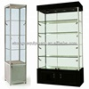 Glass display showcase & Freestanding Aluminium Tower Display Cabinet