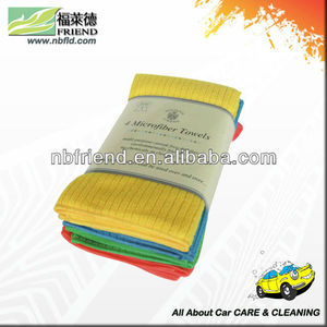 Microfiber Cleaning towlel /Terry cloth with 4 Pieces Packed