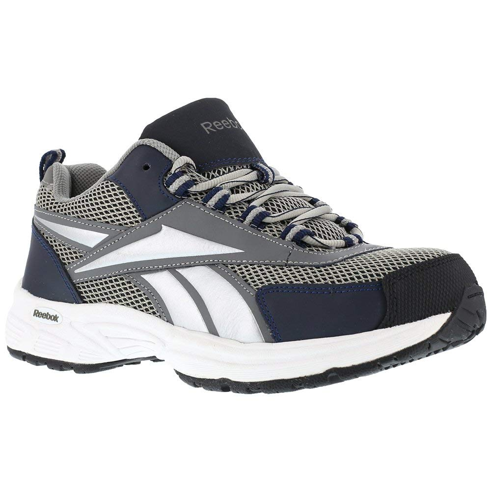 0c054ec4e877b7 Get Quotations · Reebok RB485 Women s Cross Trainer Safety Shoes - Grey Navy