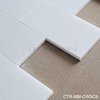 "Century Class A honed China white onyx 3""x6"" super white marble tile"