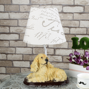 Cocker Spaniel animal bedroom bedside table lamps for home decor