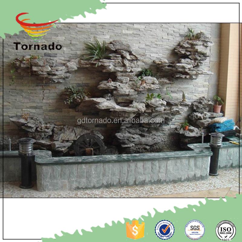 outdoor Waterfall on wall Fountain Guangzhou Plastic Craft Decor