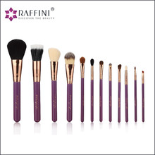 12pcs Complete Cosmetic Set Eyeshadow Foundation Wood Pro MakeUp Brush Tools