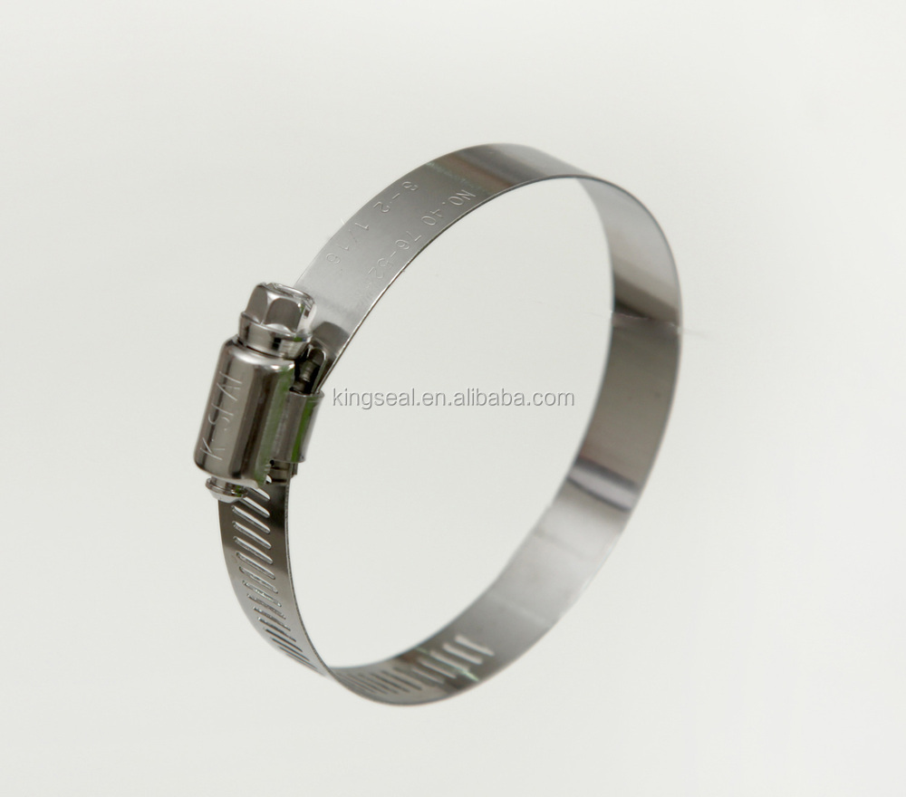 Stainless steel pipe clamps for exhaust water hose