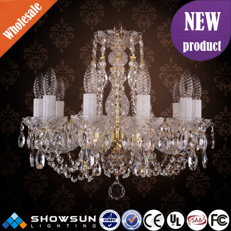 Hotel luxury vintage chandeliers energy saving bohemia crystal lamp