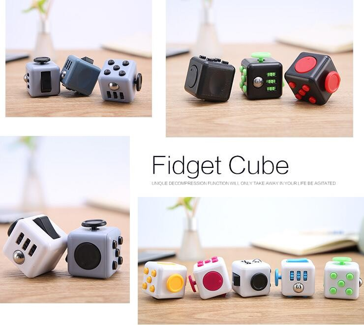 Wholesale Top quality Fidget Toy Fidget Cube with window box for Anti Stress Toy