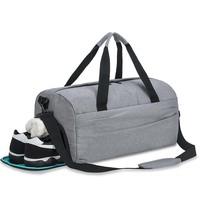 Duffle Bag Sport with Shoes Compartment Waterproof Gym Duffel Bag Travel Duffel Bag for Men and Women - Gray