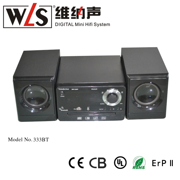 WLS 2015 Latest usb cd/vcd/dvd player for home stereo MHF-333BT support MPEG4/VDC/CD/MP3/JPEG CD/ CD-R+RW
