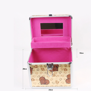Abs tool case with cut foam high quality cosmetic brand acrylic hard hair stylist pouch soft
