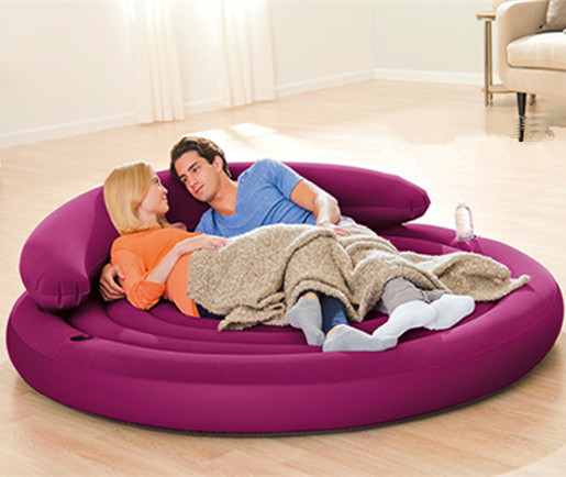 Intex 68881 Guest Bed 191x53 cm Round Inflatable Daybed Ultra Lounge Sofa