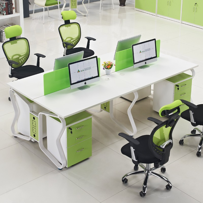 Office Table For 4 Person: Factory Wholesale Price 4 Person Workstation Furniture