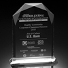 Cheap blank engrave crystal glass award trophy plaque trophy
