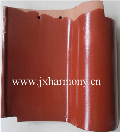 Hot sale rubber spanish roof tiles prices glazed clay roofing tiles for Villa