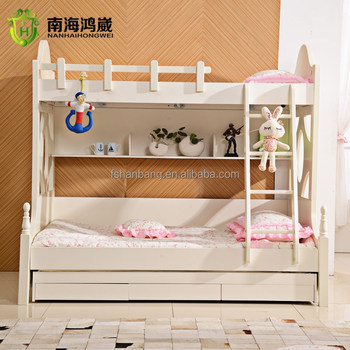 kids wooden double deck bed