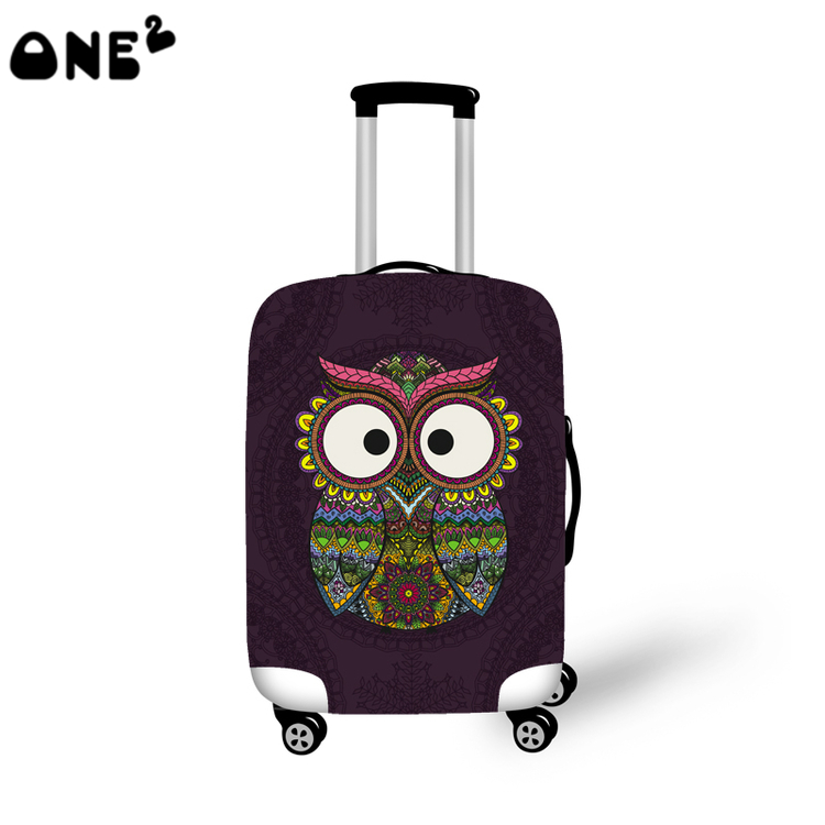 Barn Owl Suitcase Bag ID Luggage Tag Set