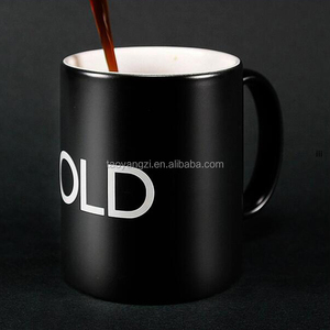 2018 custom color changing ceramic mug magic heat sensitive coffee cup