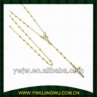 2013 fashion design rosary necklace with 14K gold beads