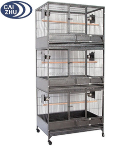 NEW Large Triple Stackers Wrought Iron Breeding Breeder Parrot Aviary Bird Cage