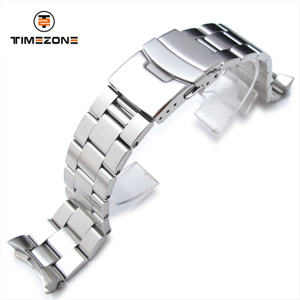 22mm Super 3D Oyster Solid Link 316L Stainless Steel Bracelet for SKX007 Diver