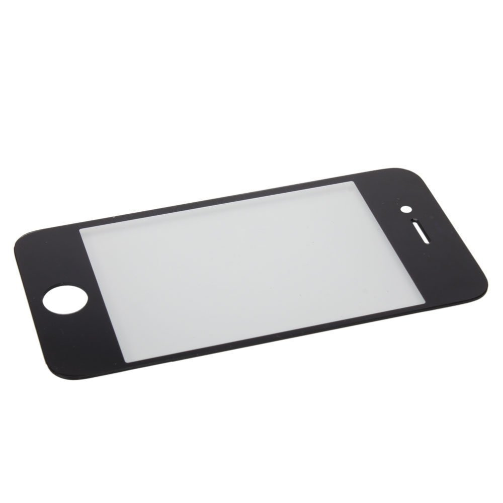 Replacement Outer Glass lens Screen FOR iPhone 4/4S Black,Replace Front Glass Outer Lens Cover