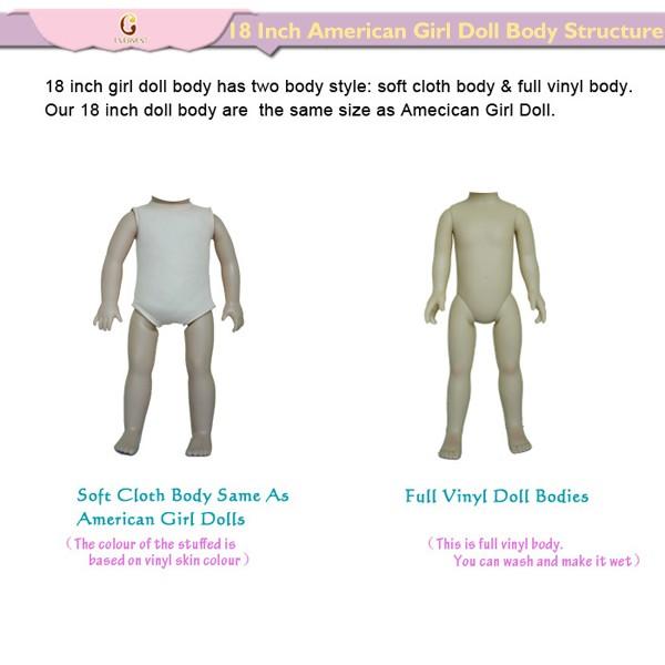Pelo Largo Chica Americana 18 Pulgadas Muñecas/personalizado Muñeca ...