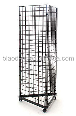 Metal Grid Wall customized chrome/powder coating metal gridwall grid wall panel