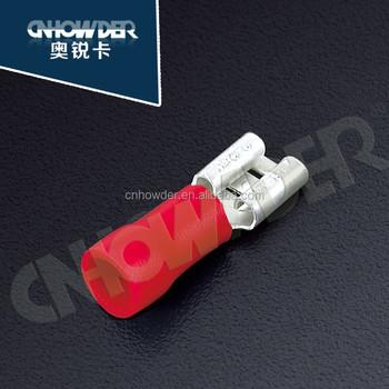 Fdd 2-187 0.8*4.75 14gauge Insulated Crimp Connectors