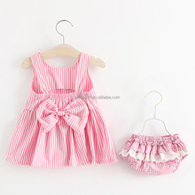 Korean version of strap dress + underwear 2 pcs of baby clothes 2 years old