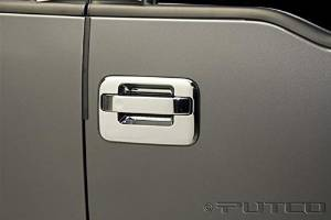 Putco Chrome Door Handle Covers for 04-14 Ford F150 4DR w/o Keypad w/o Heritage