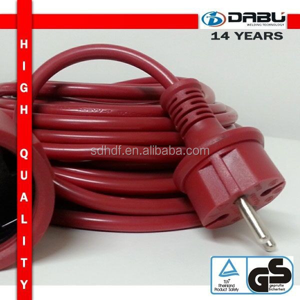 IP44 Euro Plug Stripped female style extension cord for manual water pump