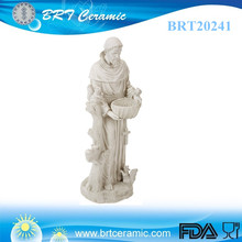 Popular St. Francis Sculpture snow white garden statue