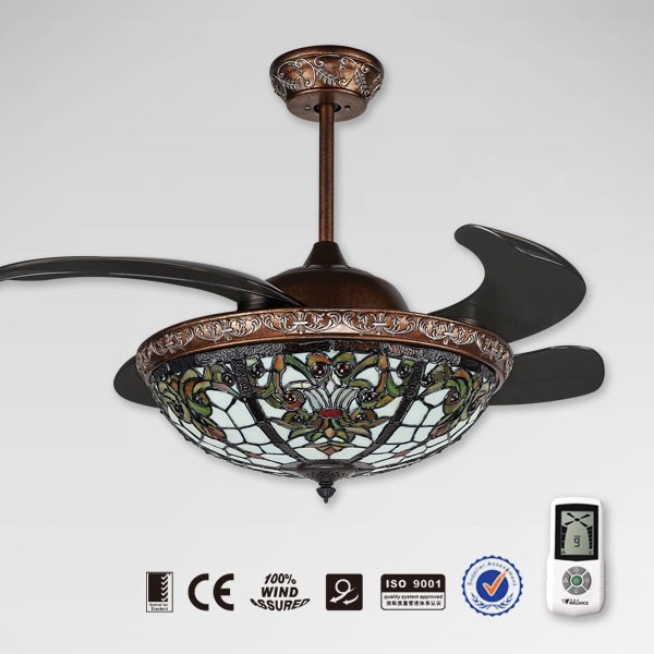 New Model Retractable Remote Control Orient Ceiling Fan Product On