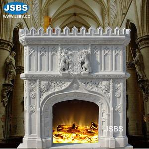 Hot Selling Beautiful Stone Carved cultured marble fireplace mantel