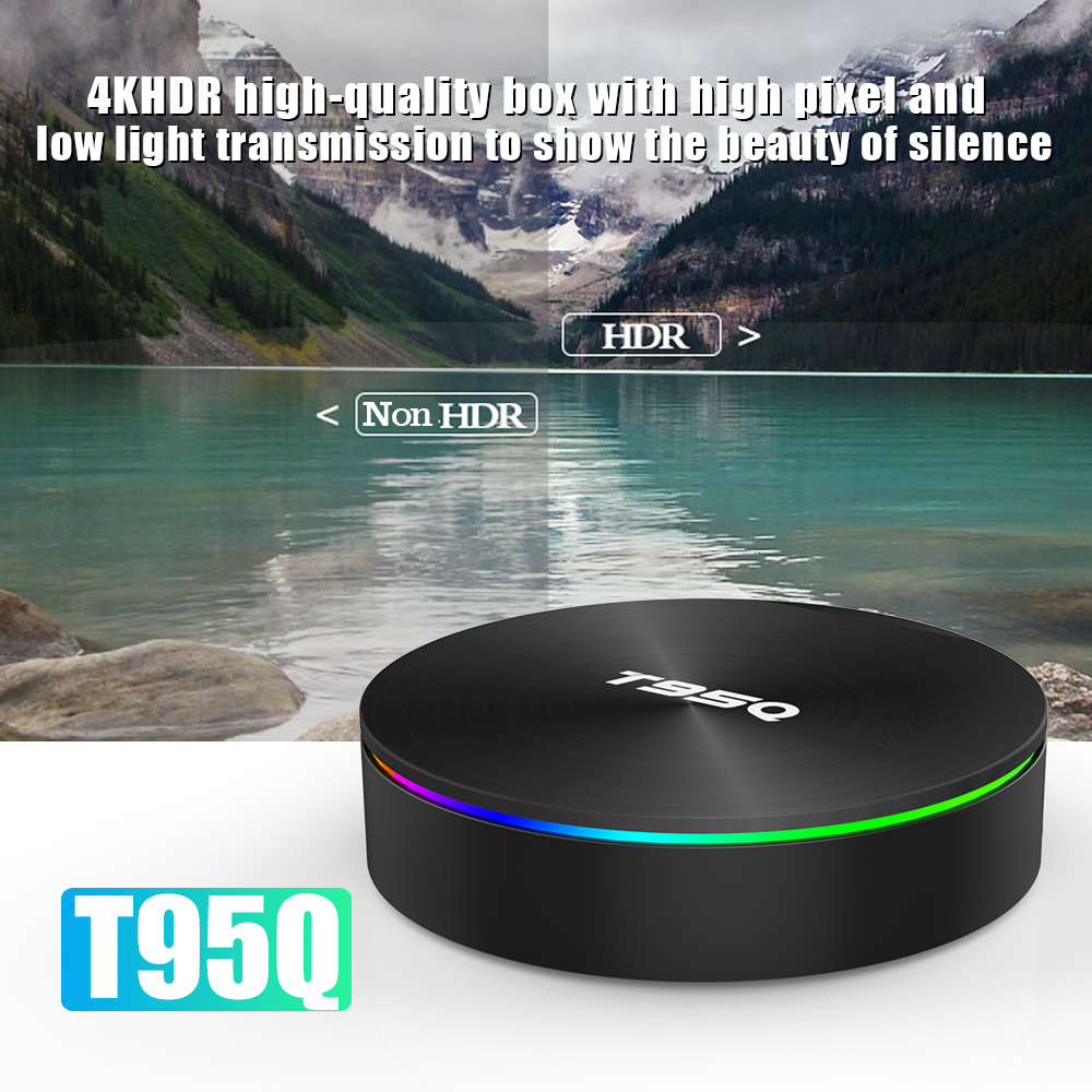 T95Q Android 8.1 Smart TV BOX 4 gb 32 gb Amlogic S905X2 H.265 Set Top Box
