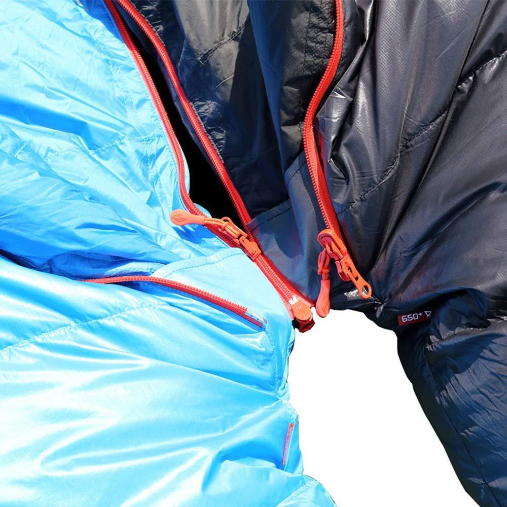 Woqi Manufacturer Warm Lightweight Outdoor Camping Hiking 800g Filling Duck Down Mummy 4 Season Sleeping Bag