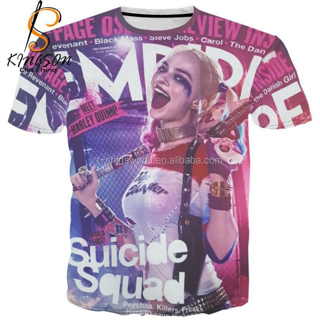 Halloween Costume T-Shirt Lot Suicide Squad Harley Quinn T-shirt Fashion 3D Printed T Shirt