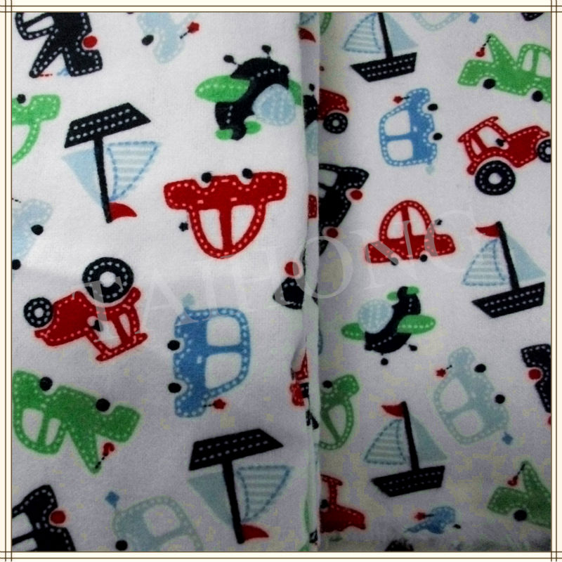 Double brushed custom print cotton flannel fabric for baby for Wholesale baby fabric
