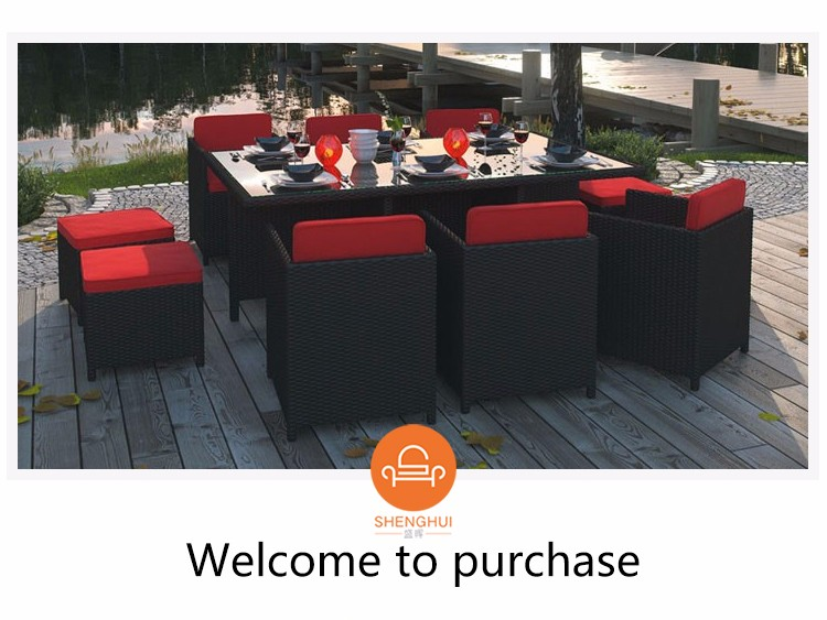 Easy Cleaning Luxury Rattan Table For Hotel Tropicdane Outdoor Furniture