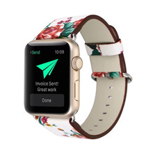 For Apple Watch Band, Leather Rural Style Replacement Strap Wrist Band with Silver Metal Adapter for 3/2/1
